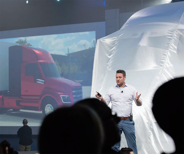 Nikola introduces electric truck at electrifying salt lake for Nikola motors stock price