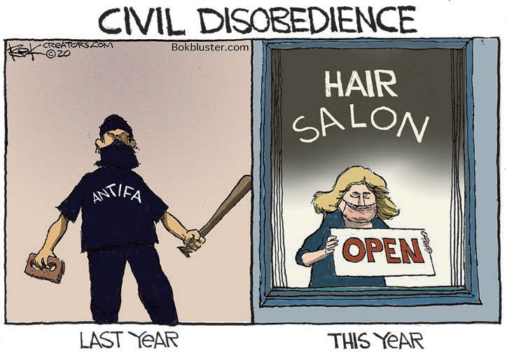 cartoon civil disobedience
