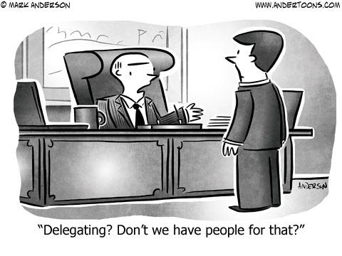 cartoon delegating