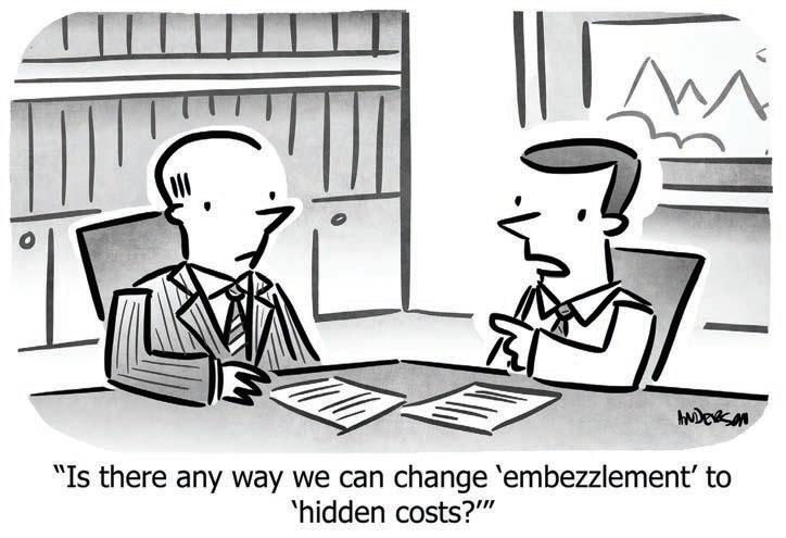 cartoon embezzlement