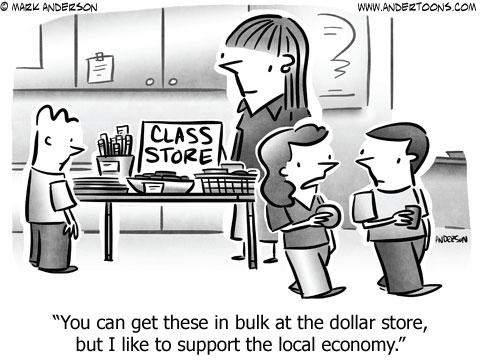 cartoon local economy