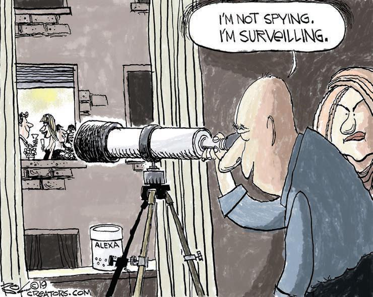 cartoon surveilling