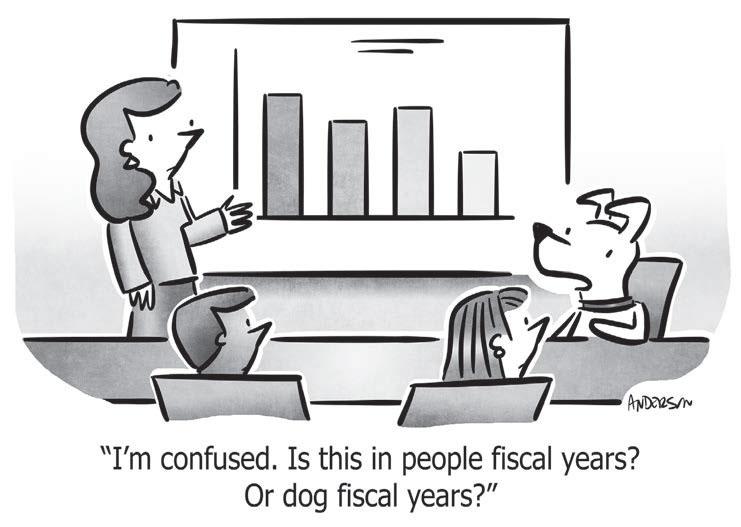 editorial cartoon fiscal year