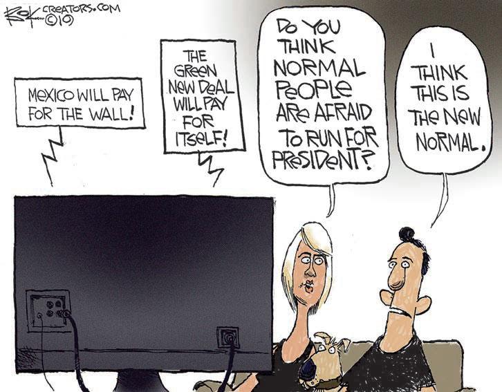 Editorial Cartoon Go Big New Normal The Enterprise