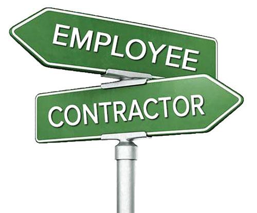 empolyee contractor